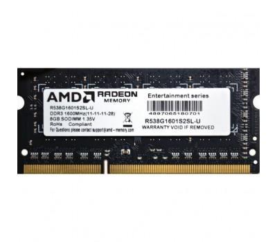 Модуль пам'яті для ноутбука SoDIMM DDR3L 8GB 1600 MHz AMD (R538G1601S2SL-U)