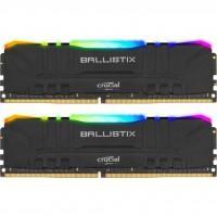 Модуль пам'яті для комп'ютера DDR4 16GB (2x8GB) 3200 MHz Ballistix RGB MICRON (BL2K8G32C16U4BL)