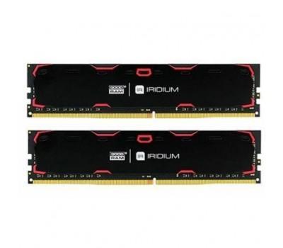 Модуль памяти для компьютера DDR4 32GB (2x16GB) 2400 MHz Iridium Black GOODRAM (IR-2400D464L17/32GDC)