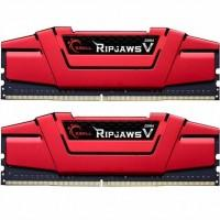 Модуль пам'яті для комп'ютера DDR4 16GB (2x8GB) 2666 MHz RipjawsV RED G.Skill (F4-2666C15D-16GVR)