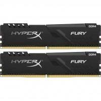 Модуль памяти для компьютера DDR4 8GB (2x4GB) 3200 MHz HyperX Fury Black Kingston (HX432C16FB3K2/8)