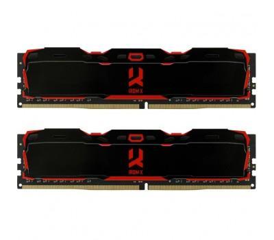 Модуль пам'яті для комп'ютера DDR4 16GB (2x8GB) 2666 MHz IRDM Black GOODRAM (IR-X2666D464L16S/16GDC)