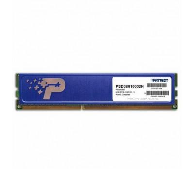 Модуль пам'яті для комп'ютера DDR3 8GB 1600 MHz Patriot (PSD38G16002H)