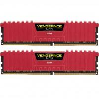 Модуль памяти для компьютера DDR4 16GB (2x8GB) 3200 MHz Vengeance LPX Red CORSAIR (CMK16GX4M2B3200C16R)