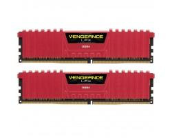 Модуль пам'яті для комп'ютера DDR4 16GB (2x8GB) 3200 MHz Vengeance LPX Red CORSAIR (CMK16GX4M2B3200C16R)