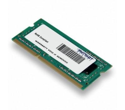 Модуль памяти для ноутбука SoDIMM DDR3L 4GB 1600 MHz Patriot (PSD34G1600L81S)