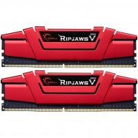 Модуль памяти для компьютера DDR4 8GB (2x4GB) 2400 MHz RipjawsV Red G.Skill (F4-2400C15D-8GVR)