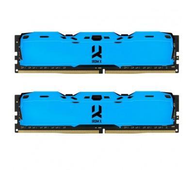 Модуль пам'яті для комп'ютера DDR4 16GB (2x8GB) 3000 MHz IRDM Blue GOODRAM (IR-XB3000D464L16S/16GDC)