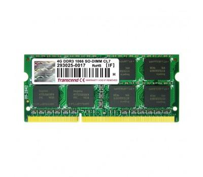 Модуль пам'яті для ноутбука SoDIMM DDR3 4GB 1066 MHz Transcend (TS4GAP1066S)