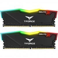 Модуль пам'яті для комп'ютера DDR4 8GB (2x4GB) 2666 MHz T-Force Delta Black RGB Team (TF3D48G2666HC15BDC01)