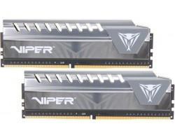 Модуль пам'яті для комп'ютера DDR4 32GB (2x16GB) 2666 MHz Viper Elite Black/Gray Patriot (PVE432G266C6KGY)
