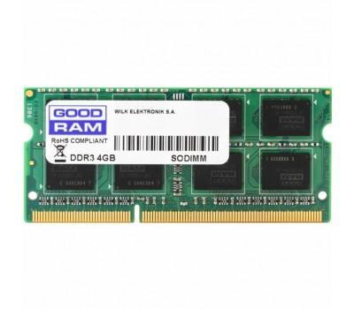 Модуль пам'яті для ноутбука SoDIMM DDR3 4GB 1600 MHz GOODRAM (GR1600S364L11/4G)