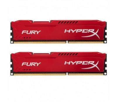 Модуль пам'яті для комп'ютера DDR3 8Gb (2x4GB) 1600 MHz HyperX Fury Red Kingston (HX316C10FRK2/8)