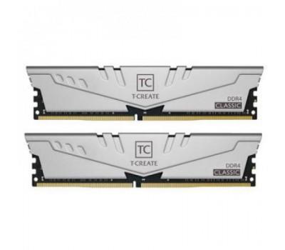 Модуль пам'яті для комп'ютера DDR4 PC4-21300 (3200 MHz) Team T-Create Classic 10L Gray (2x16GB) (TTCCD432G3200HC22DC01)