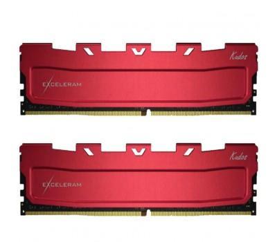 Модуль пам'яті для комп'ютера DDR4 16GB (2x8GB) 3200 MHz Kudos Red eXceleram (EKRED4163217AD)