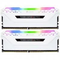 Модуль пам'яті для комп'ютера DDR4 16GB (2x8GB) 3200 MHz Vengeance RGB Pro White CORSAIR (CMW16GX4M2C3200C16W)