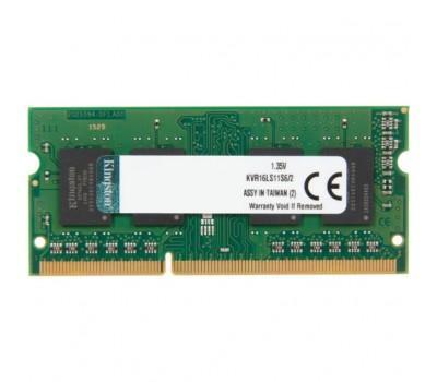 Модуль памяти для ноутбука SoDIMM DDR3L 2GB 1600 MHz Kingston (KVR16LS11S6/2)
