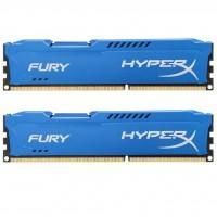 Модуль пам'яті для комп'ютера DDR3 8Gb (2x4GB) 1600 MHz HyperX Fury Blu Kingston (HX316C10FK2/8)