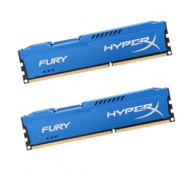 Модуль памяти для компьютера DDR3 8Gb (2x4GB) 1866 MHz HyperX Fury Blu Kingston (HX318C10FK2/8)