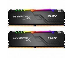 Модуль пам'яті для комп'ютера DDR4 16GB (2x8GB) 2400 MHz HyperX Fury RGB Kingston (HX424C15FB3AK2/16)