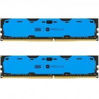 Модуль пам'яті для комп'ютера DDR4 8GB (2x4GB) 2400 MHz Iridium Blue GOODRAM (IR-B2400D464L15S/8GDC)