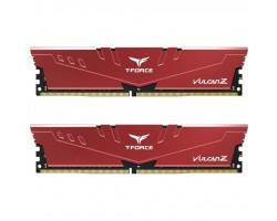 Модуль пам'яті для комп'ютера DDR4 16GB (2x8GB) 3000 MHz T-Force Vulcan Z Red Team (TLZRD416G3000HC16CDC01)