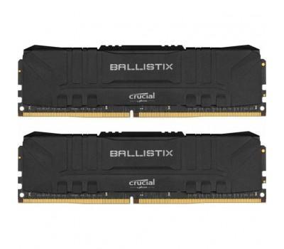 Модуль пам'яті для комп'ютера DDR4 16GB (2x8GB) 3000 MHz Ballistix Black MICRON (BL2K8G30C15U4B)