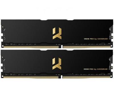 Модуль пам'яті для комп'ютера DDR4 16GB (2x8GB) 4000 MHz IRDM PRO Black GOODRAM (IRP-4000D4V64L18S/16GDC)