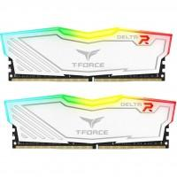 Модуль памяти для компьютера DDR4 16GB (2x8GB) 2400 MHz T-Force Delta White RGB Team (TF4D416G2400HC15BDC01)