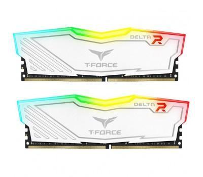 Модуль пам'яті для комп'ютера DDR4 16GB (2x8GB) 2400 MHz T-Force Delta White RGB Team (TF4D416G2400HC15BDC01)