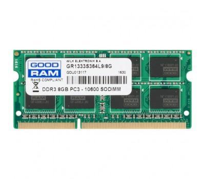 Модуль памяти для ноутбука SoDIMM DDR3 8GB 1333 MHz GOODRAM (GR1333S364L9/8G)
