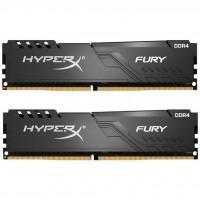 Модуль пам'яті для комп'ютера DDR4 64GB 3200 MHz HyperX Fury Black Kingston (HX432C16FB3K2/64)