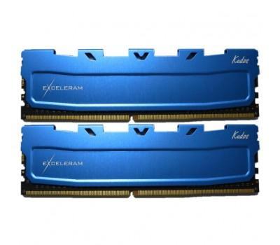 Модуль пам'яті для комп'ютера DDR4 16GB (2x8GB) 2400 MHz Blue Kudos eXceleram (EKBLUE4162417AD)