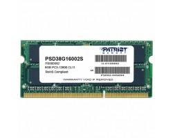 Модуль пам'яті для ноутбука SoDIMM DDR3 8GB 1600 MHz Patriot (PSD38G16002S)
