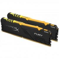 Модуль памяти для компьютера DDR4 16GB (2x8GB) 2666 MHz HyperX Fury Black RGB Kingston (HX426C16FB3AK2/16)