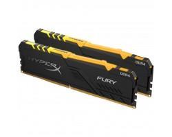 Модуль пам'яті для комп'ютера DDR4 16GB (2x8GB) 2666 MHz HyperX Fury Black RGB Kingston (HX426C16FB3AK2/16)
