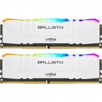 Модуль памяти для компьютера DDR4 16GB (2x8GB) 3200 MHz Ballistix White RGB MICRON (BL2K8G32C16U4WL)
