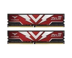Модуль пам'яті для комп'ютера DDR4 16GB (2x8GB) 2666 MHz T-Force Zeus Red Team (TTZD416G2666HC19DC01)