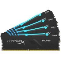Модуль пам'яті для комп'ютера DDR4 64GB (4x16GB) 3200 MHz HyperX Fury RGB Kingston Fury (ex.HyperX) (HX432C16FB4AK4/64)