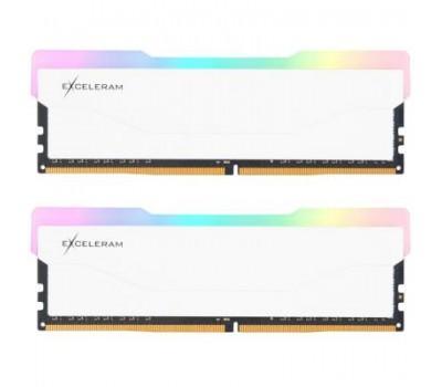 Модуль пам'яті для комп'ютера DDR4 16GB (2x8GB) 3600 MHz RGB X2 Series White eXceleram (ERX2W416369AD)