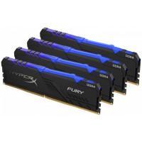 Модуль пам'яті для комп'ютера DDR4 64GB (4x16GB) 3200 MHz Fury RGB Black Kingston Fury (ex.HyperX) (HX432C16FB3AK4/64)