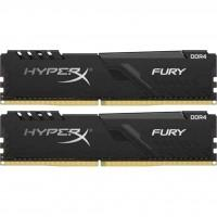 Модуль пам'яті для комп'ютера DDR4 8GB (2x4GB) 3000 MHz HyperX Fury Black Kingston (HX430C15FB3K2/8)
