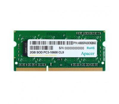 Модуль пам'яті для ноутбука SoDIMM DDR3 2GB 1333 MHz Apacer (DS.02G2J.H9M)