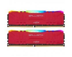 Модуль памяти для компьютера DDR4 16GB (2x8GB) 3200 MHz Ballistix Red RGB MICRON (BL2K8G32C16U4RL)