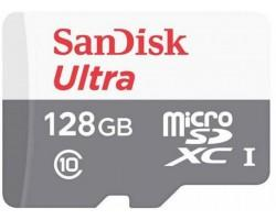 Карта пам'яті SanDisk 128GB microSD class 10 Ultra Light (SDSQUNR-128G-GN6MN)
