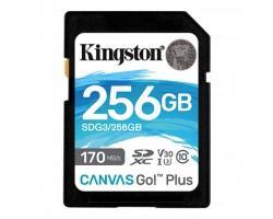 Карта пам'яті Kingston 256GB SDXC class 10 UHS-I U3 Canvas Go Plus (SDG3/256GB)