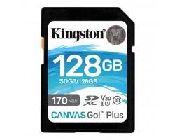 Карта пам'яті Kingston 128GB SDXC class 10 UHS-I U3 Canvas Go Plus (SDG3/128GB)