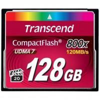 Карта пам'яті Transcend Compact Flash Card 128Gb 800X (TS128GCF800)