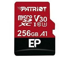 Карта пам'яті Patriot microSDXC EP Series 256GB Class 10 UHS-I (U3) V30 A1 W-80MB/s R-100MB/s +SD-ад (PEF256GEP31MCX)