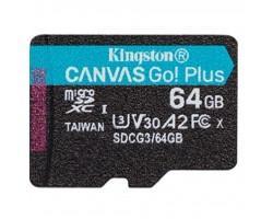 Карта пам'яті Kingston 64GB microSD class 10 UHS-I U3 A2 Canvas Go Plus (SDCG3/64GBSP)